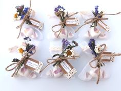 Looking for a perfect gift to give to family and friends on your special day? These three magnolia scented, oatmeal and shea butter soaps are a unique present. Each favour is decorated with blue hand dried flowers and a personalised label. Soap Gifts, Soap Wedding Favors, Shea Butter Soap, Personalized Labels, Unique Presents, Handmade Items, Handmade Gifts, Soap Making, Dried Flowers