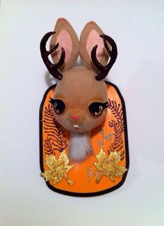 The Mighty Jackalope Faux Taxidermy by stitchofwhimsy on Etsy, $65.00