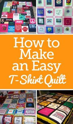Resplendent Sew A Block Quilt Ideas. Magnificent Sew A Block Quilt Ideas. Quilting For Beginners, Quilting Tips, Quilting Tutorials, Sewing For Beginners, Quilting Projects, Tshirt Blankets Diy, T Shirt Blanket, Sewing Hacks, Sewing Projects