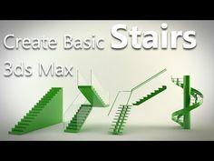 3ds Max Tutorial - Create Basic Staircase - Arch Viz Camp