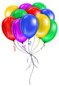 Transparent Multi Color Balloons PNG Picture Clipart