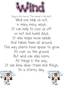 """Lesson Ideas +Free Weather Book Activity Cute song about the wind for teaching weather (sang to the tune of """"The Farmer in the Dell"""")Cute song about the wind for teaching weather (sang to the tune of """"The Farmer in the Dell"""") 1st Grade Science, Kindergarten Science, Science Classroom, Teaching Science, Science Education, Teaching Ideas, Early Education, Weather Song, Weather Words"""