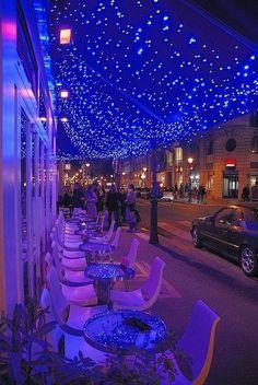 Illumination in Cafe Le Marais, Paris.