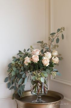 flowers made simple - easy floral arrangements for shower, centerpiece, Easter