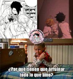 ¡Memes De The Promised Neverland! Otaku Anime, Anime Manga, Hiro Big Hero 6, Memes Estúpidos, Anime Lindo, Anime Child, Nisekoi, Fandom, Diabolik Lovers