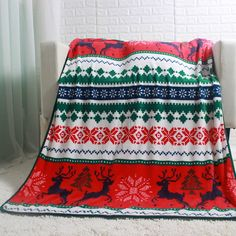 Red Throw, Flat Bed, Fleece Throw, Bed Sheets, Deer, Christmas Gifts, Coral, Warm, Quilts