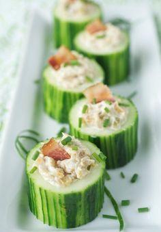 Cucumber Cup Appetizers.