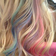 Pastel Cotten candy hair colors