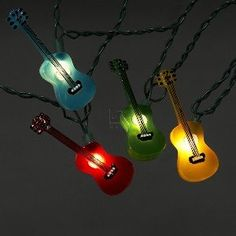 $19.00-$19.50 Kurt Adler UL1855 Multi-Colored Guitar Light Set, 10 Light - This novelty light set features 10 guitar lights with 30-inch lead wire and 12-inch spacing. This light set includes 4 spare bulbs and 2 spare fuses. http://www.amazon.com/dp/B003IHU37M/?tag=pin2wine-20