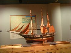 Model of a full-rigged ship, Bilbao