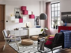 11 Of the Coolest Ways How to Upgrade IKEA Living Room Ideas Having a Good living room is the dream of each individual. By this truth, it is important to discuss the IKEA Living Room Ideas. The idea will enable . Green Dining Room, Living Room Grey, Small Living Rooms, Living Room Designs, Ikea Living Room Furniture, Living Room Cabinets, Ikea Lixhult, Ikea Wall, Home Decor Bedroom