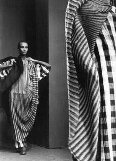 Iman by Françoise Huguier for Issey Miyake, s/s 1984