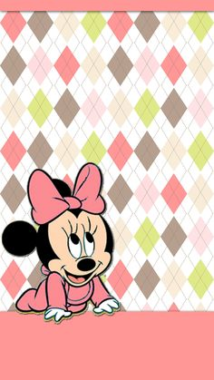 BABY MINNIE MOUSE IPHONE WALLPAPER BACKGROUND