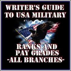 Army, Navy, Air Force, Marine, Coast Guard Pay Grades, Ranks, Insignia AND Military dictionary, map symbols, alphabet, acronyms, vehicles, weapons and artillery.