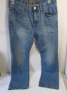 American Eagle Outfitters Women's Blue Denim Jeans Size 32/32 Original Boot  #AmericanEagleOutfitters #BootCut