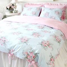 Shabby and Elegant Blue Rose/pink Gingham 4pc Bedding Set, Queen Victoria's deco http://www.amazon.com/dp/B004YBFVDM/ref=cm_sw_r_pi_dp_o1J.tb1AR82N8