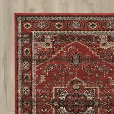 World Menagerie Kaul Red/Gray/Beige Area Rug You'll Love | Wayfair