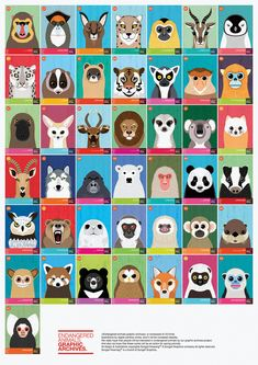 Taking the form of a project called Endangered Animals Graphic Archives, these illustrations draw attention to the numerous endangered species that are disappearing. The archive is based on the Red List of Threatened Species . Animal Science, Animal Activities, Animal Species, Endangered Species, Endangered Animals Lessons, Animal Art Projects, Animal Activist, Animal Graphic, Red Dot Design