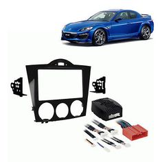 Dashboard Installation Kits: Fits Mazda Rx8 2004-2008 Double Din Aftermarket Harness Radio Install Dash Kit BUY IT NOW ONLY: $169.99