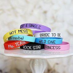8 Wedding Girls Night Out Bachelorette Party Bracelets Bachelorette Favor