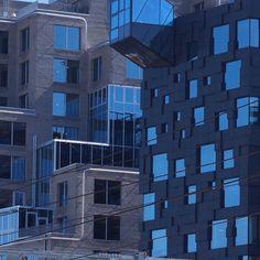 Utsnitt av Barcode - Oslo, Norway #modern #architecture #moderne #arkitektur #barcode #oslo #dronningeufemiasgate #wismargata #norway
