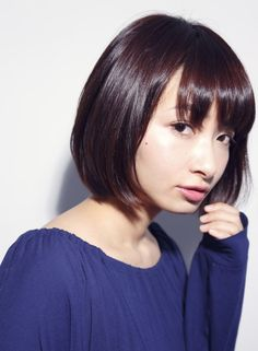 シンプルツヤモードボブ 【DECO】 http://beautynavi.woman.excite.co.jp/salon/25557?pint ≪ #bobhair #bobstyle #bobhairstyle #hairstyle・ボブ・ヘアスタイル・髪型・髪形 ≫