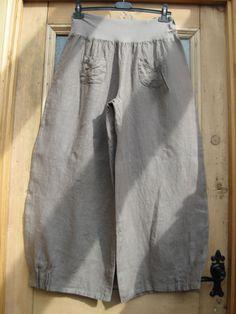 Italian Designer Lagenlook Linen Balloon Trousers
