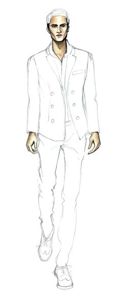 DRAWING | Learning How To Draw The Elegant Man - Fashion Finishing School