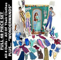 48-pc Set Magnetic Fashion Doll/s & WONDERWANDS!  Kid/s Educational Game/s Toy/s