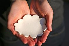 Cloud teabag holders by OlivePitPottery on Etsy, $8.00
