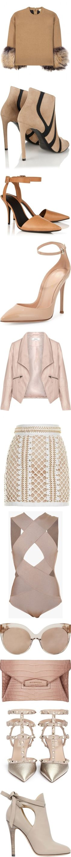 NUDE&CLASS by fanny-afx on Polyvore featuring women's fashion, tops, sweaters, shirts, beige, beige sweater, miu miu sweater, beige top, wool cashmere sweater and cashmere sweater