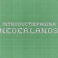 Introductiepagina - Nederlands