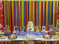 festa colorida  pintando o 7