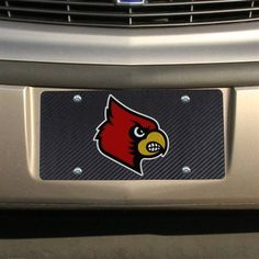 Louisville Cardinals Carbon Fiber License Plate