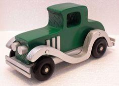 1929 Model Roosevelt Coupe wooden car Antique by PawPawsWorkshop