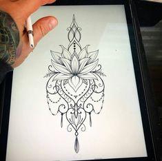 Flor peonia tatuagem