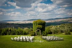 Tuscany wedding ceremony setting