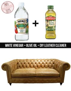 Get your furniture looking like new with this DIY leather cleaner. | 27 Insanely Easy Two-Ingredient DIYs