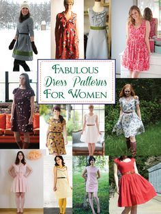 Fabulous Dress Patterns for Women - these are all so cute!
