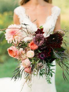Rich jewel toned autumn wedding bouquet:  Photography: Lindsay Madden - http://lindsaymaddenphotography.com/