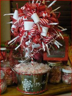 Candy Cane Topiary....soooo going to be my centerpiece
