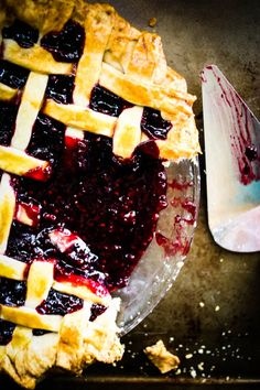 blackberry pie // For the Love of the South