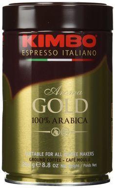 Kimbo Espresso Coffee Italiano Aroma Gold 100% Arabica 3 Cans -- Click image for more details.