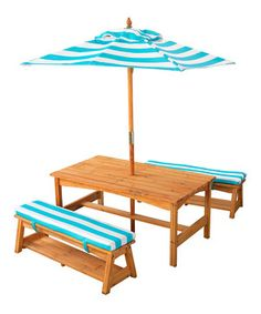 Make Full Use Of Outdoor Living Space With This Darling Wooden Table And  Bench Set.