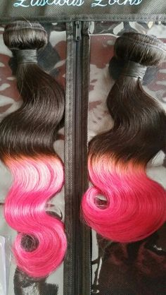 Are you looking to make a daring, bold statement?  Well Luscious Locks Virgin Hair can create any custom color or ombre of your desire. Featured is our virgin Malaysian body wave in 1b natural and fuschia. Check out our website at www.lusciouslocksvirginhair.com.  as always we sell the best for less.  Virgin hair extensions starting at 45.00/bundle.