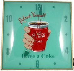 Vintage Coca Cola Advertising PAM Clock RARE by VintageItemExchange on Etsy, $650.00