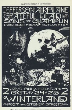 Festival poster - Jefferson Airplane and more, especially Bill Champlin's group. . . Sons of Champlin!