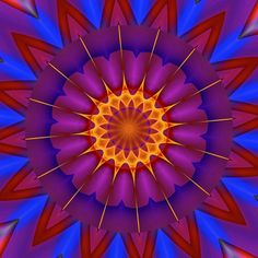 généreusement ; generously ; generosamente Mandala de Pierre Vermersch Digital Drawings