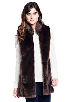 "Meet your wardrobe's newest MVP. Our best-selling 32"" Sable faux fur vest will be the one you turn to for updating and upgrading separates already in your wardrobe. Dressy or casual, it's an easy add-on for three seasons of wear."
