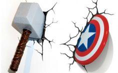 BabyZone: 18 Ideas for a Comic Book-Themed Nursery | 3D Marvel Wall Lights